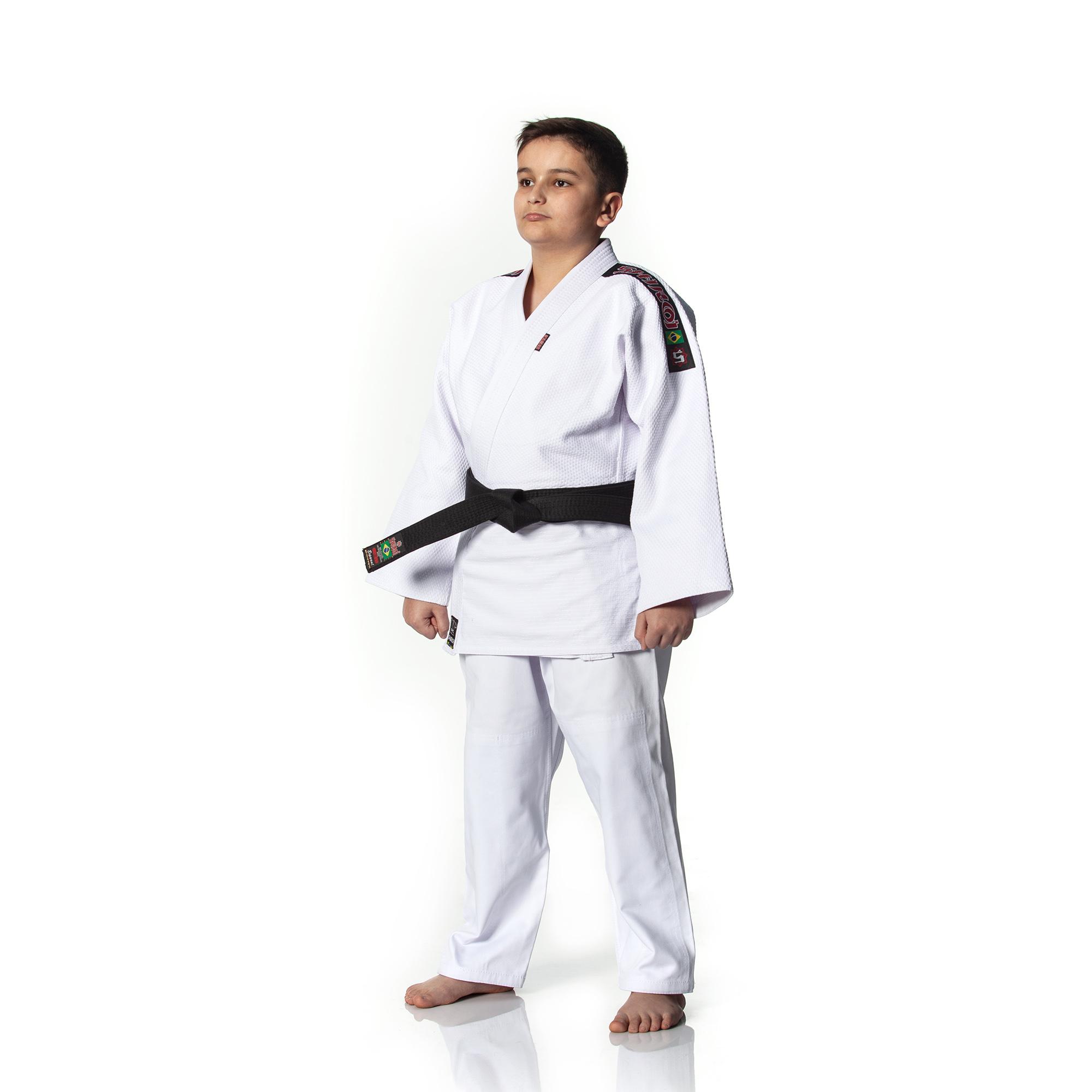4f1418a21 Kimono Shiroi Judô Master Infantil - Branco - SHIROI Kimonos