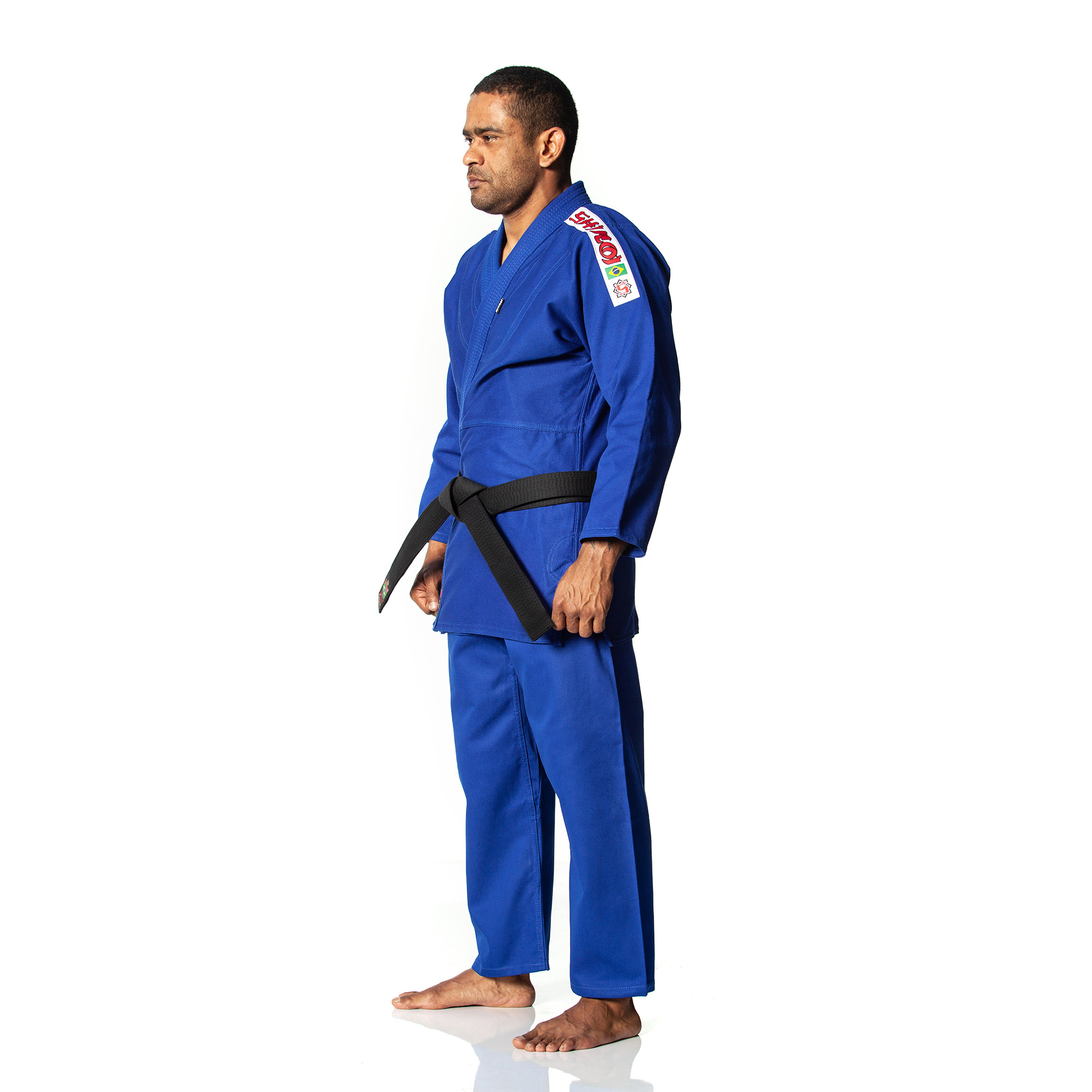 030b22314 Kimono Shiroi Trançadinho Adulto - Azul - SHIROI Kimonos